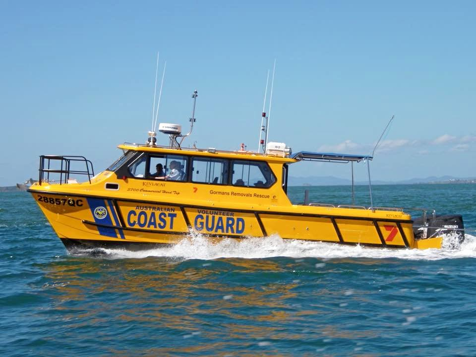 ACTION STATIONS: A Coast Guard vessel responds to an emergency call.