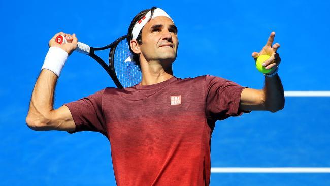 Roger Federer prepares for the Australian Open.