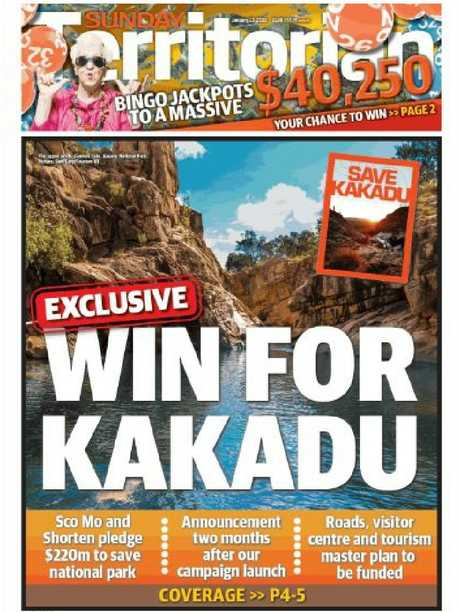 Our Kakadu  front page today