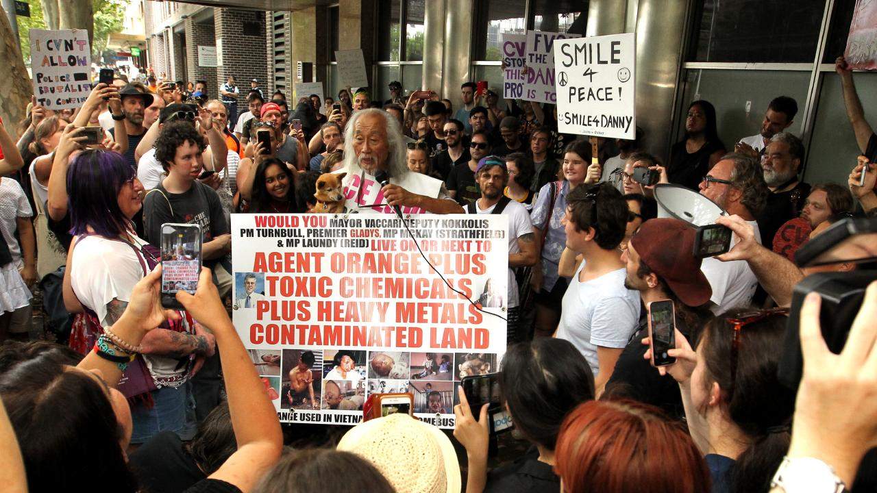 The protest was attended by more than 150 people in support of Mr Lim.