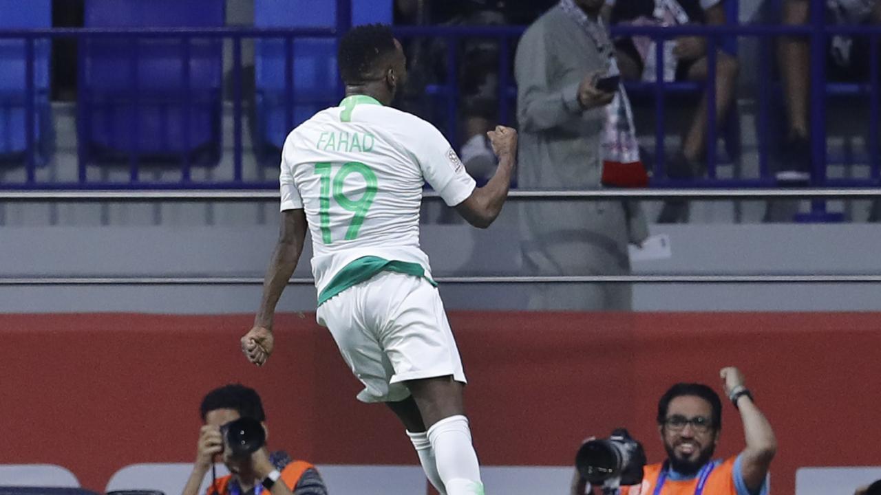 Saudi Arabia's main man Fahad Al Muwallad celebrates his opening goal.