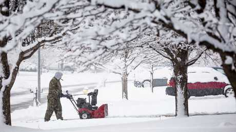 A massive winter snowstorm has blanketed parts of midwest America. Picture: AP