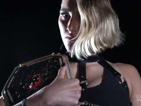 Rhea Ripley was the NXT UK champion until today.