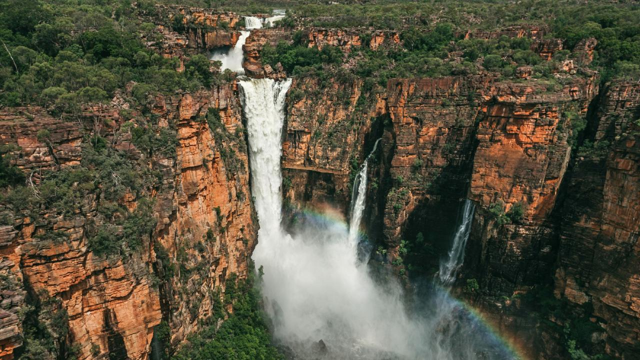 Jim Jim Falls at Kakadu National Park. Picture: Tourism NT