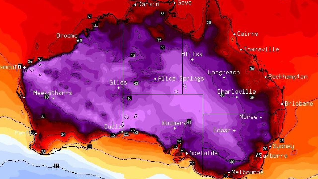 A heatwave is set to sweep through the southern states. Picture: Sky News Weather.