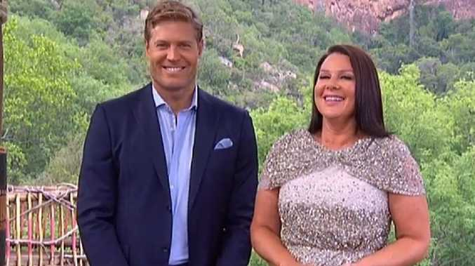 I'm A Celeb hosts Chris Brown and Julia Morris