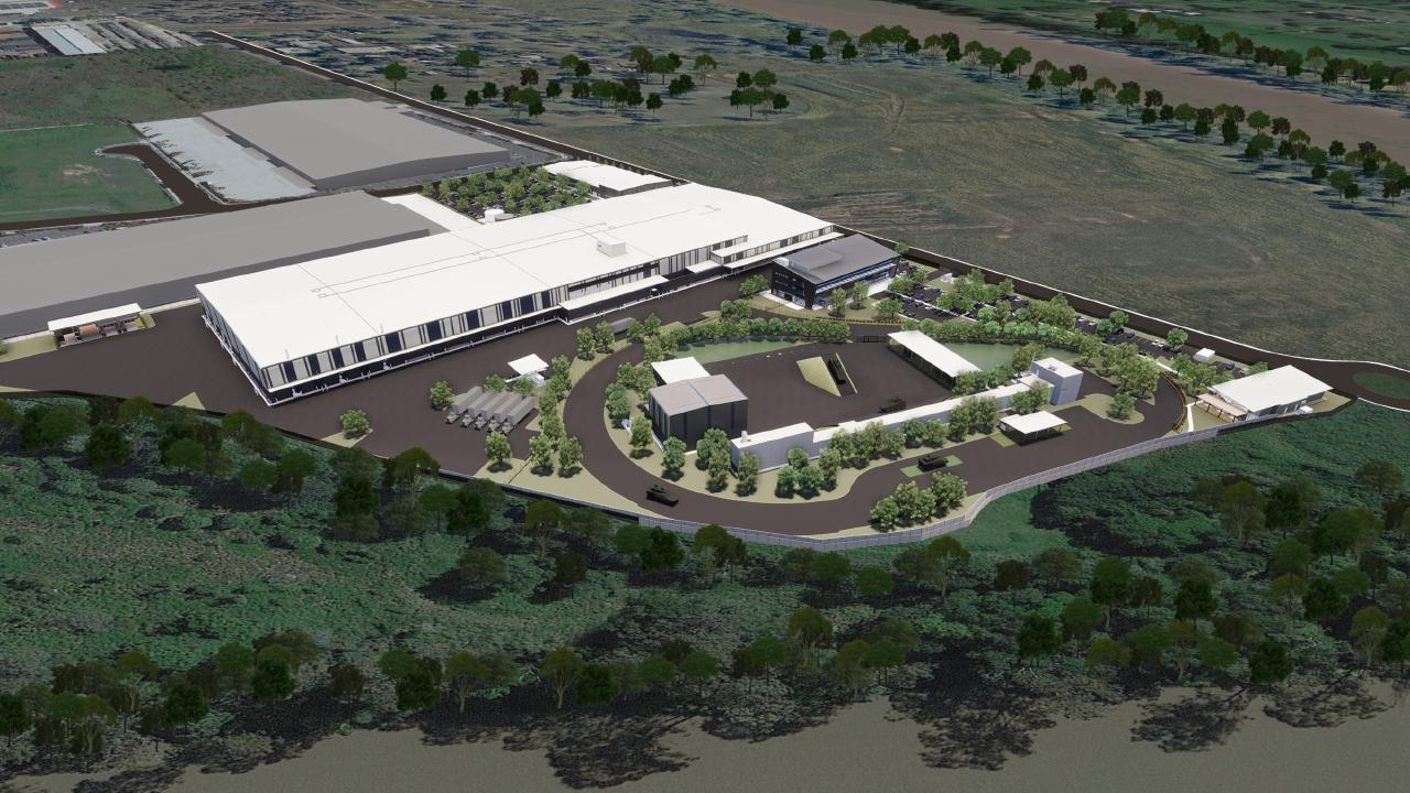 Artist impressions of the Rheinmetall defence Australia-New Zealand Headquarters being built in Redbank
