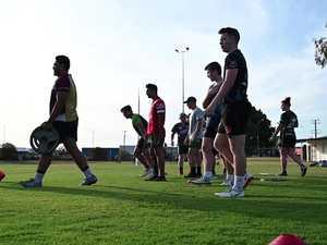 Ipswich Jets Mal Meninga training