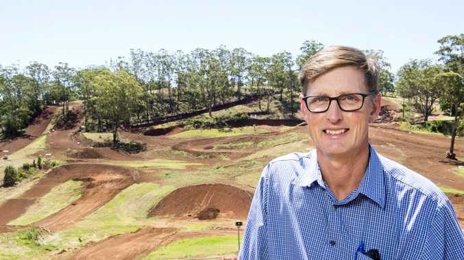 Bruce Krause, Treasurer of Toowoomba Motocross Club. New track designs planned for Echo Valley. Monday, 14th Jan, 2019.