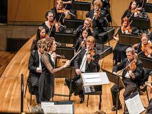 FINE TUNES: Music director Alondra de la Parra with the Queensland Symphony Orchestra.