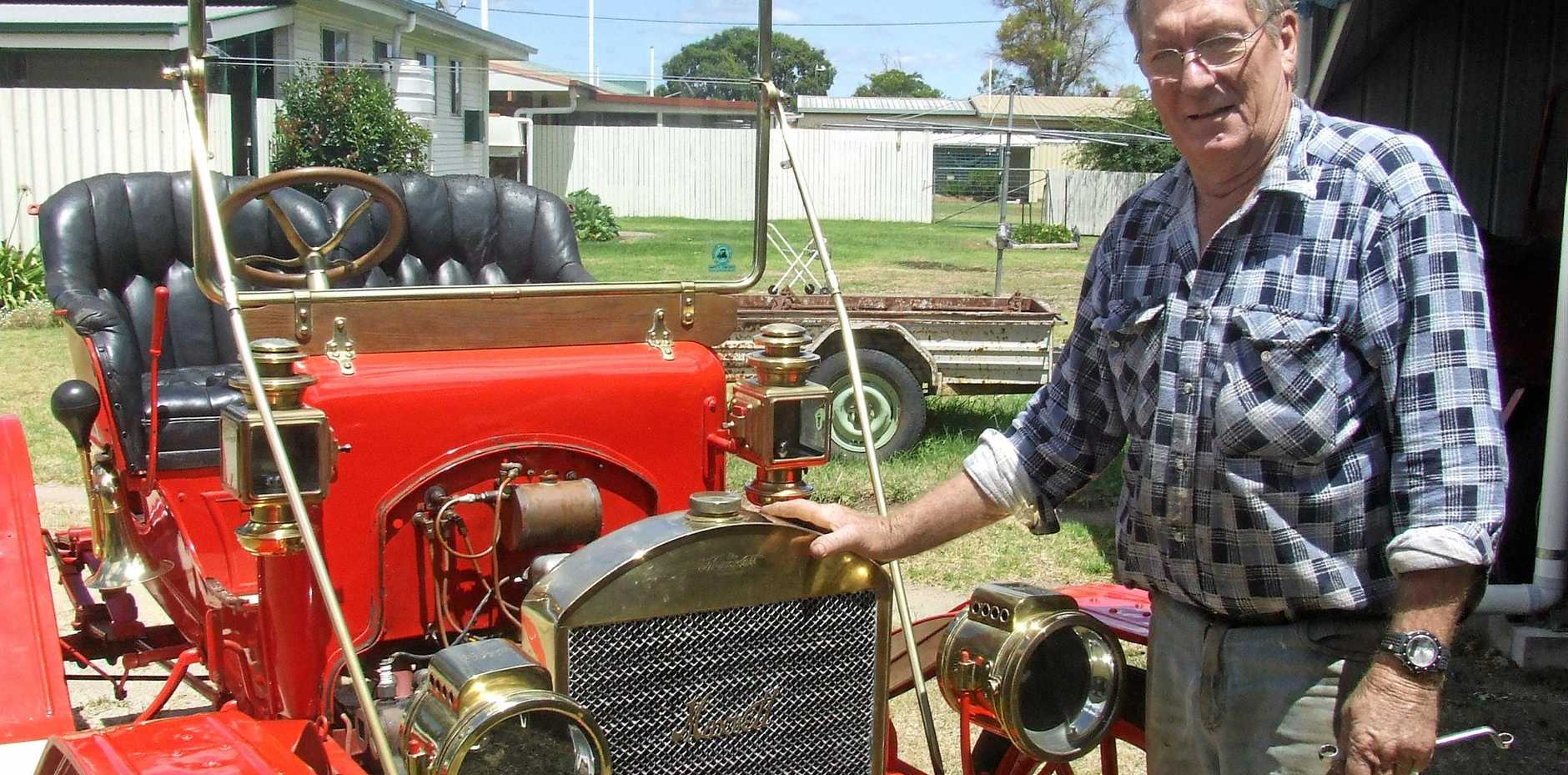 HISTORY SHINES: Allora-based vehicle restorer Keith Wilson's rare 1910 Maxwell AA Runabout will make an appearance at the Allora Heritage Weekend.