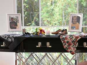 'Fly high baby boy': Mum's heartbreak as son farewelled