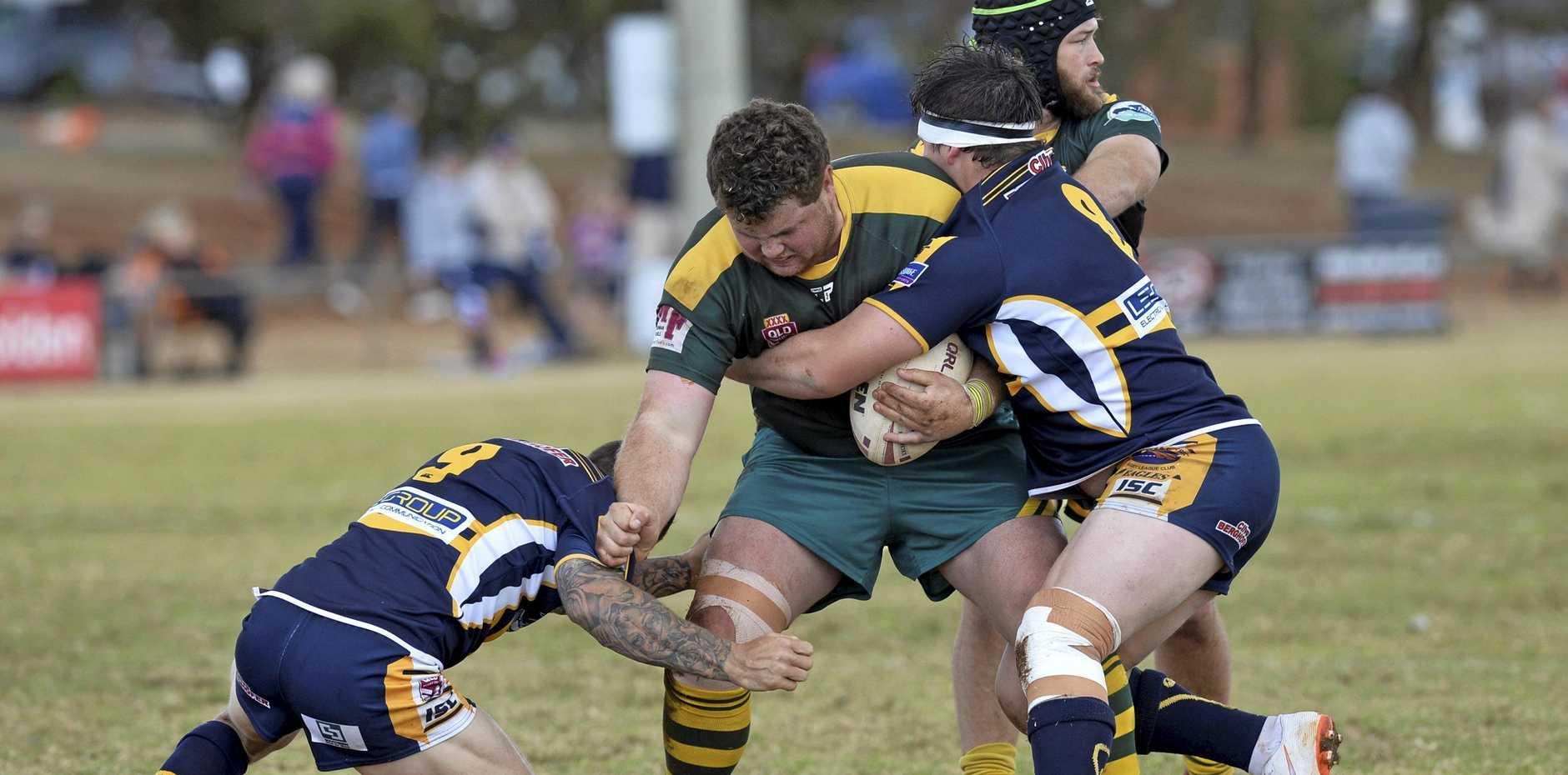 SEASON OPENER: Mitch Duff of Wattles playing against Highfields in last year's TRL Premiership preliminary final. His 2019 season will start for Toowoomba Clydesdales on February 16.