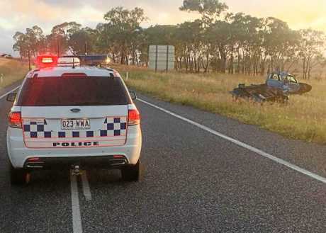 Police are investigating a single-vehicle crash in which Pittsworth man Clint Briskey, 24, died on the Gore Highway near Broxburn on Sunday morning.