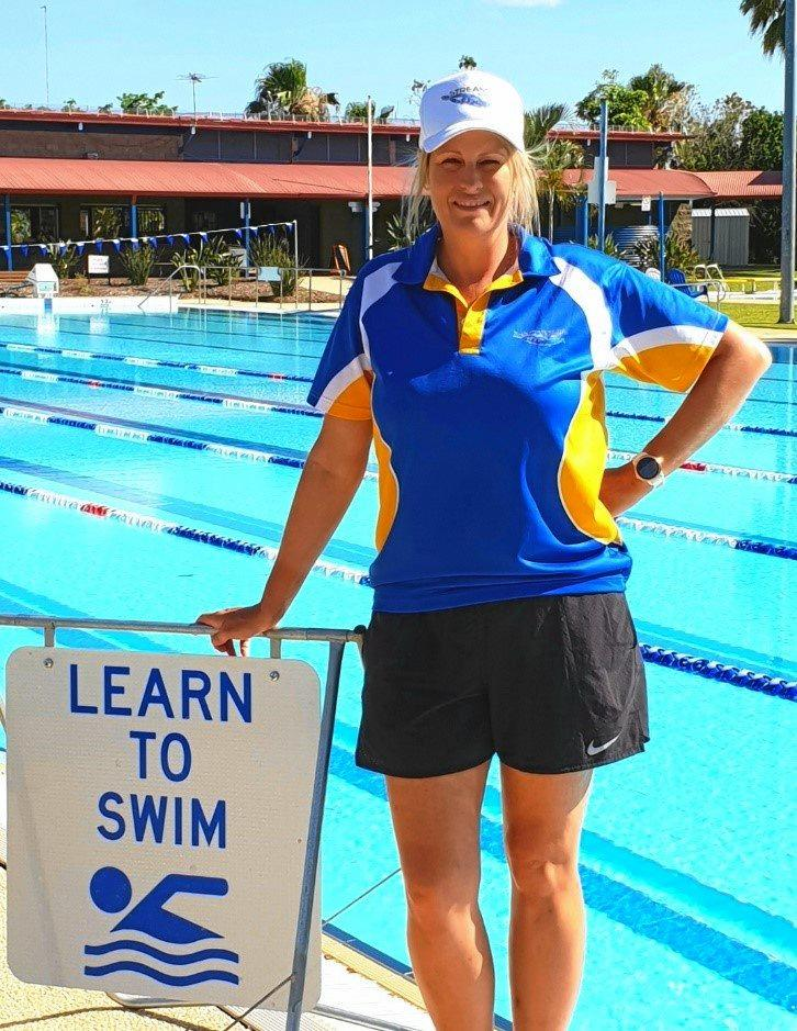 PASSION: Qualified swim teacher, Cassee Evans is the manager of the Capella Pool.