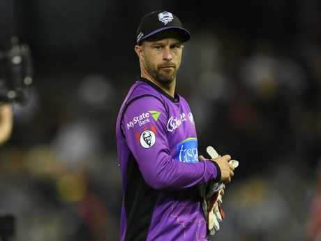 Matthew Wade has been trying to give up the gloves.