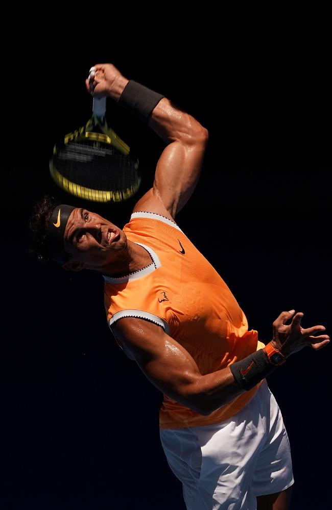 Nadal now has a smoother service technique.. (AAP Image/Mark Dadswell)