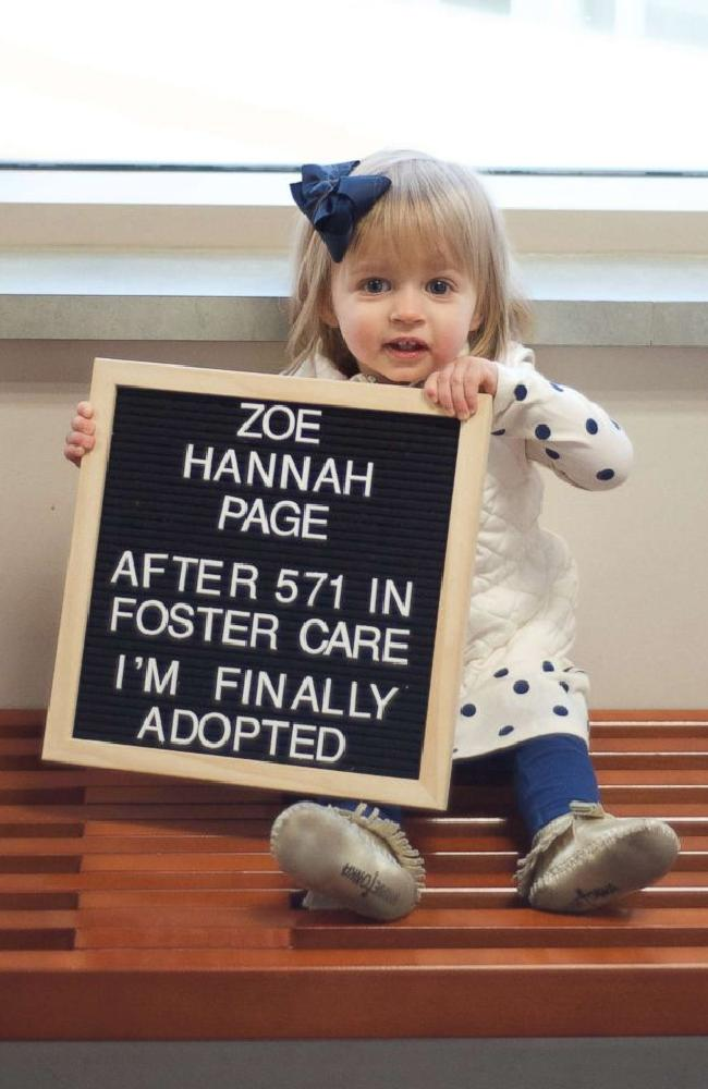 'Hannah's adopted! Our miracle is finally permanent forever and my two babies will always be together.' Picture: Ashley Creative Co
