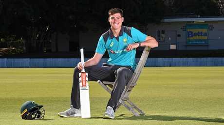 Matthew Renshaw at Allen Border Field, Brisbane. Picture: AAP/John Gass