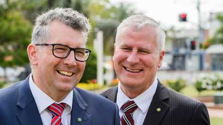 Hinkler MP Keith Pitt and Deputy Prime minister Michael McCormack. Picture: Paul Beutel