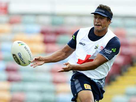 North Queensland Cowboys training from 1300 Smiles Stadium. Te Maire Martin. Picture: Zak Simmonds
