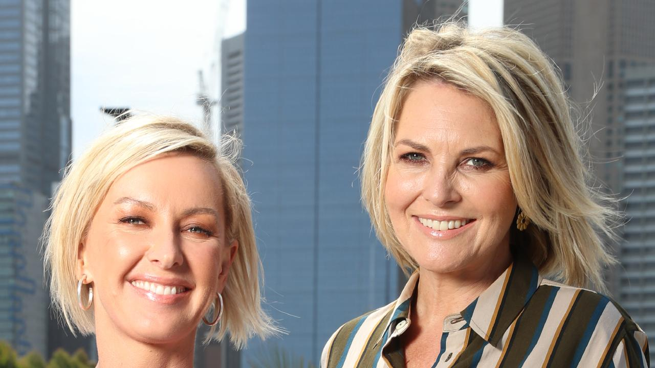 Deb Knight and Georgie Gardner were set to make Australian TV history this morning. Picture: Alex Coppel