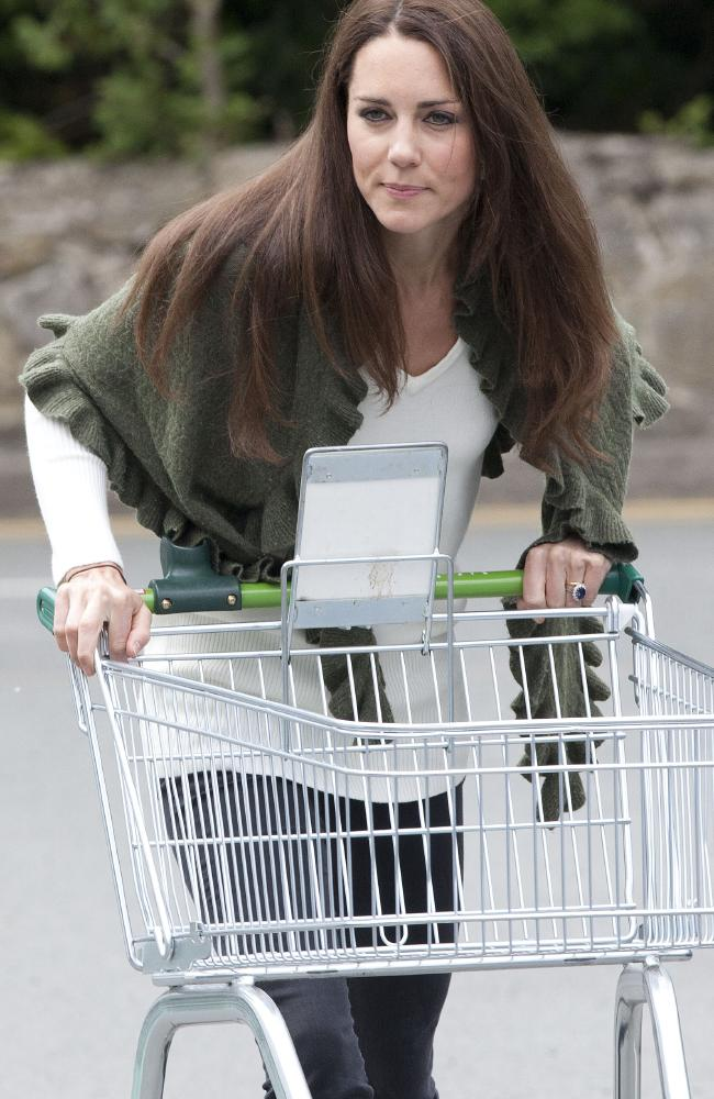 Kate is frequently spotted grocery shopping for her family (pictured in 2011).