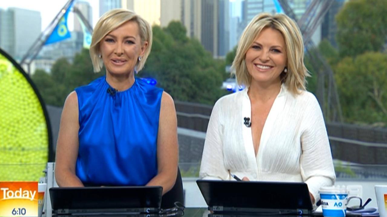 Deb Knight and Georgie Gardner front new-look Today, live from Melbourne for the Australian Open. Picture: Nine