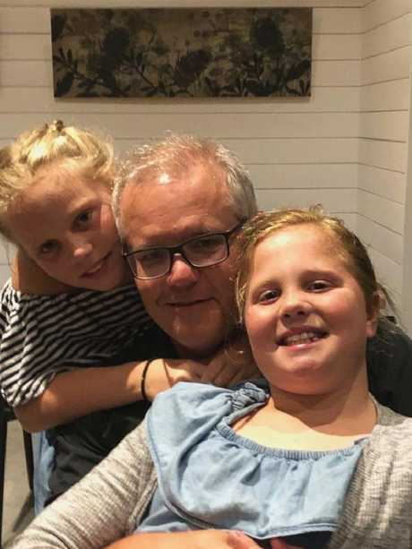 PM Scott Morrison holidays in Shoalhaven Heads with his daughters and wife.