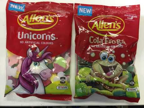 Allen's new Cola Frogs and Unicorns. One of them could be a permanent offering for lolly lovers after the lolly maker holds a national poll. Picture: Supplied