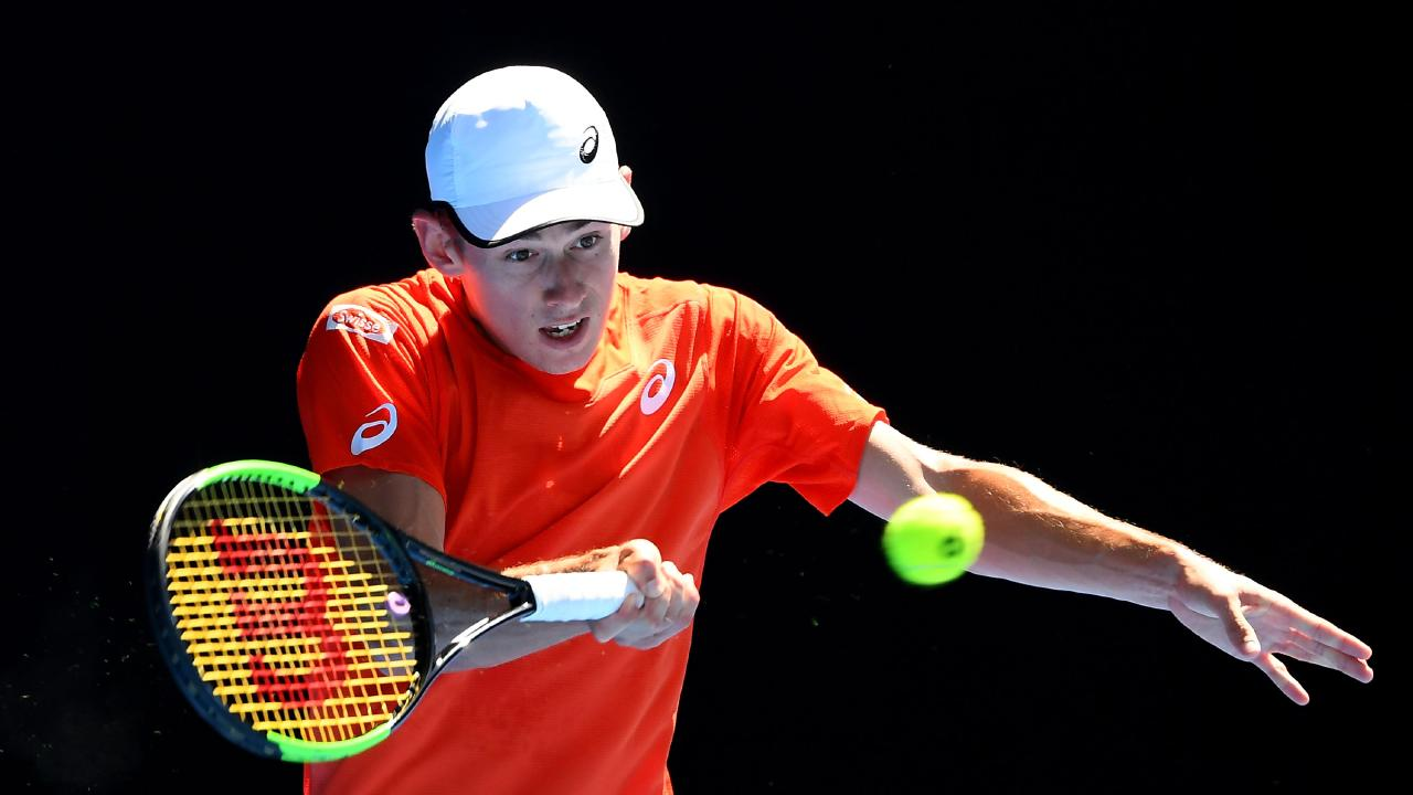 The young Australian is on track for a round three clash with Rafael Nadal. (Photo by Quinn Rooney/Getty Images)