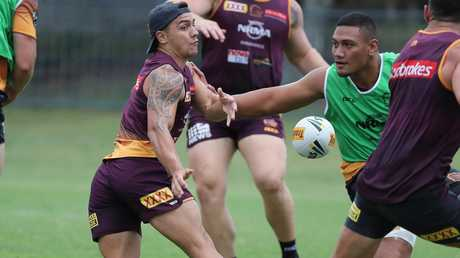 Kodi Nikorima is enjoying training under new coach Anthony Seibold. Picture: Peter Wallis