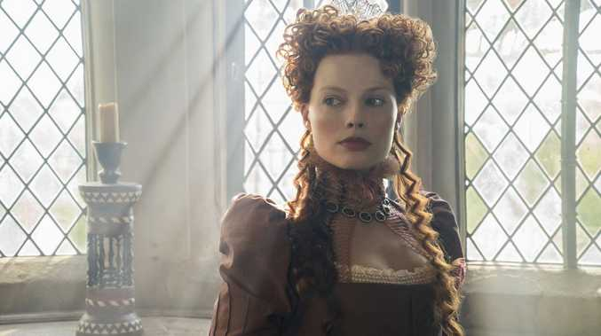 Margot Robbie stars as Queen Elizabeth I in the movie Mary Queen of Scots.