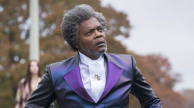 Samuel L Jackson in a scene from the movie Glass.