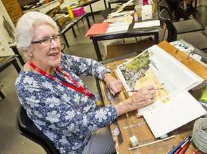 Watercolour student Sue Thompson. McGregor Summer