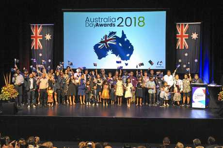 The Gladstone Regional Council's 2018 Australia Day Awards and Citizenship Ceremony was held at the Gladstone Entertainment and Convention Centre on January 25, 2018.