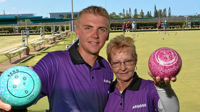 Club Kawana recorded their best ever win in the Queensland Premier Bowls comp, beating the reigning premiers. Dale McWhinney-Shillington and Maz Emerton are all smiles after the big win.