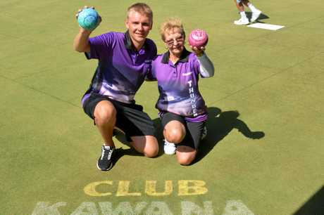 Club Kawana recorded their best ever win in the Queensland Premier Bowls comp, beating the reigning premiersDale McWhinney-Shillington and Maz Emerton all smiles after the big win.