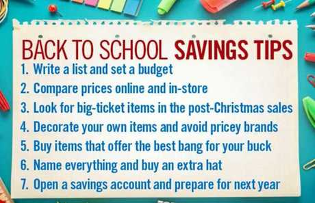 BUDGET IS KEY: Jeni Bonell's top tips on how to cut back-to-school costs.