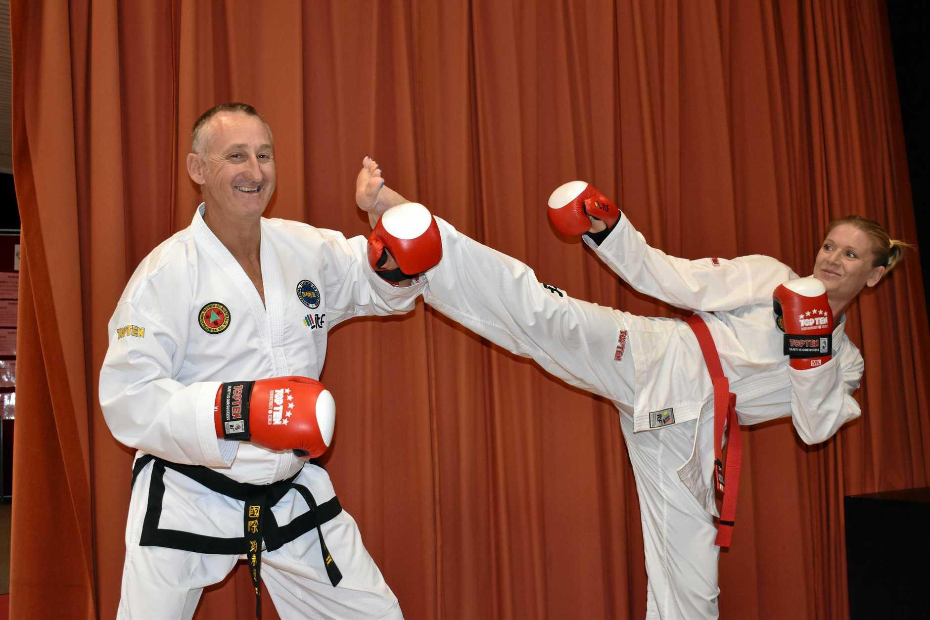 KICK PUNCH: Bai Rui Taekwon-Do Laidley instructor Darren Finch will travel to New Zealand next week for training.