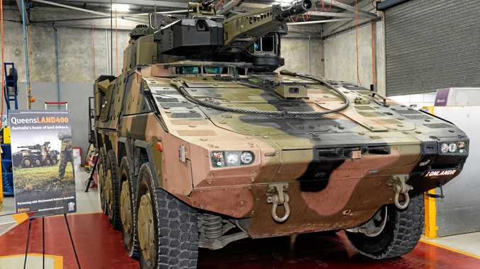 BOOST: Rheinmetall's Boxer Combat Reconnaissance Vehicle will be built at its Redbank Military Vehicle Centre .