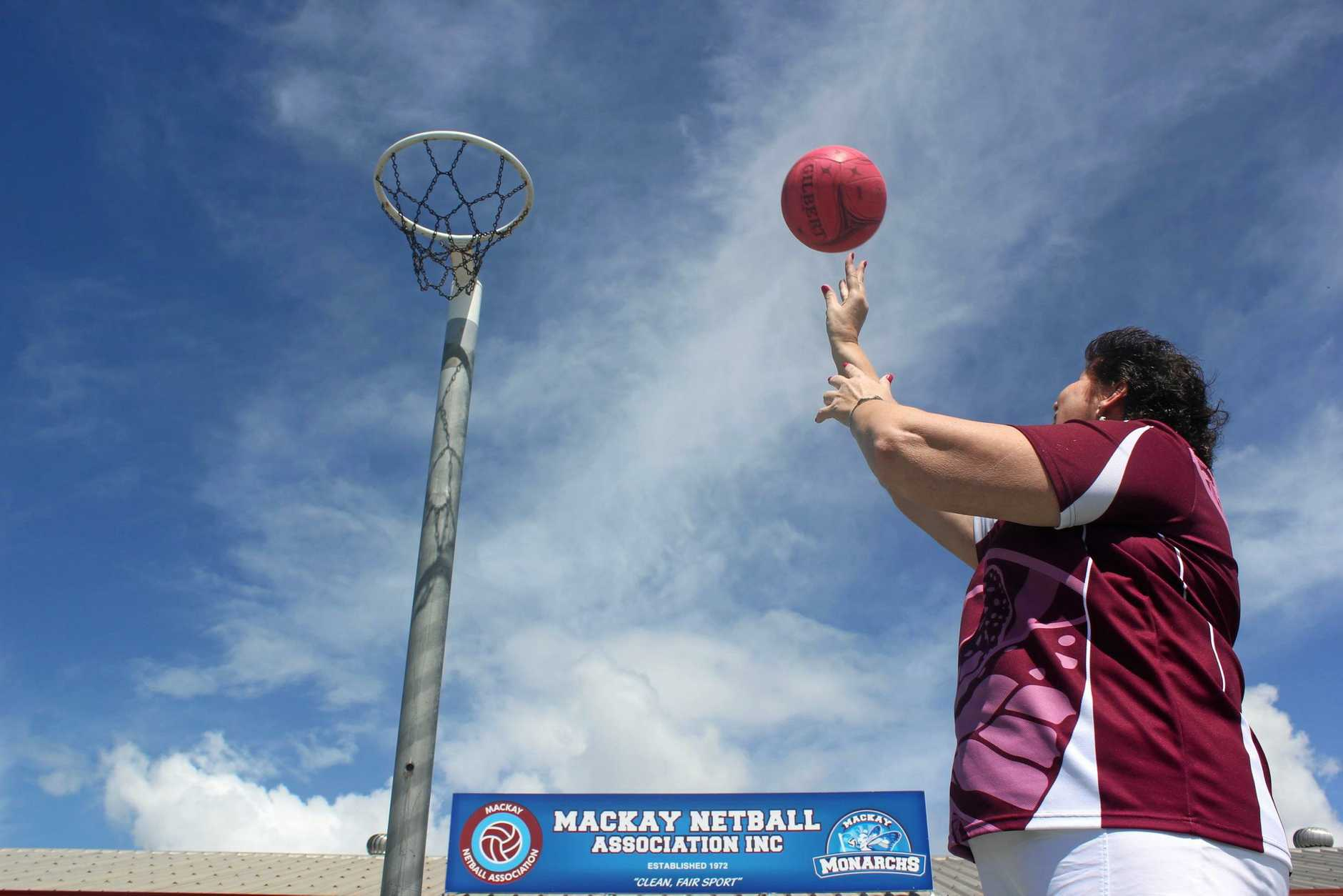 Mackay Netball Association President Lyn Law shows she's still got it.