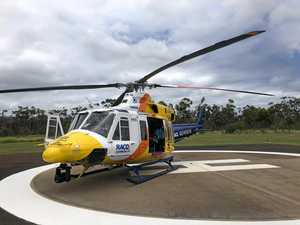 Young snake bite victim airlifted