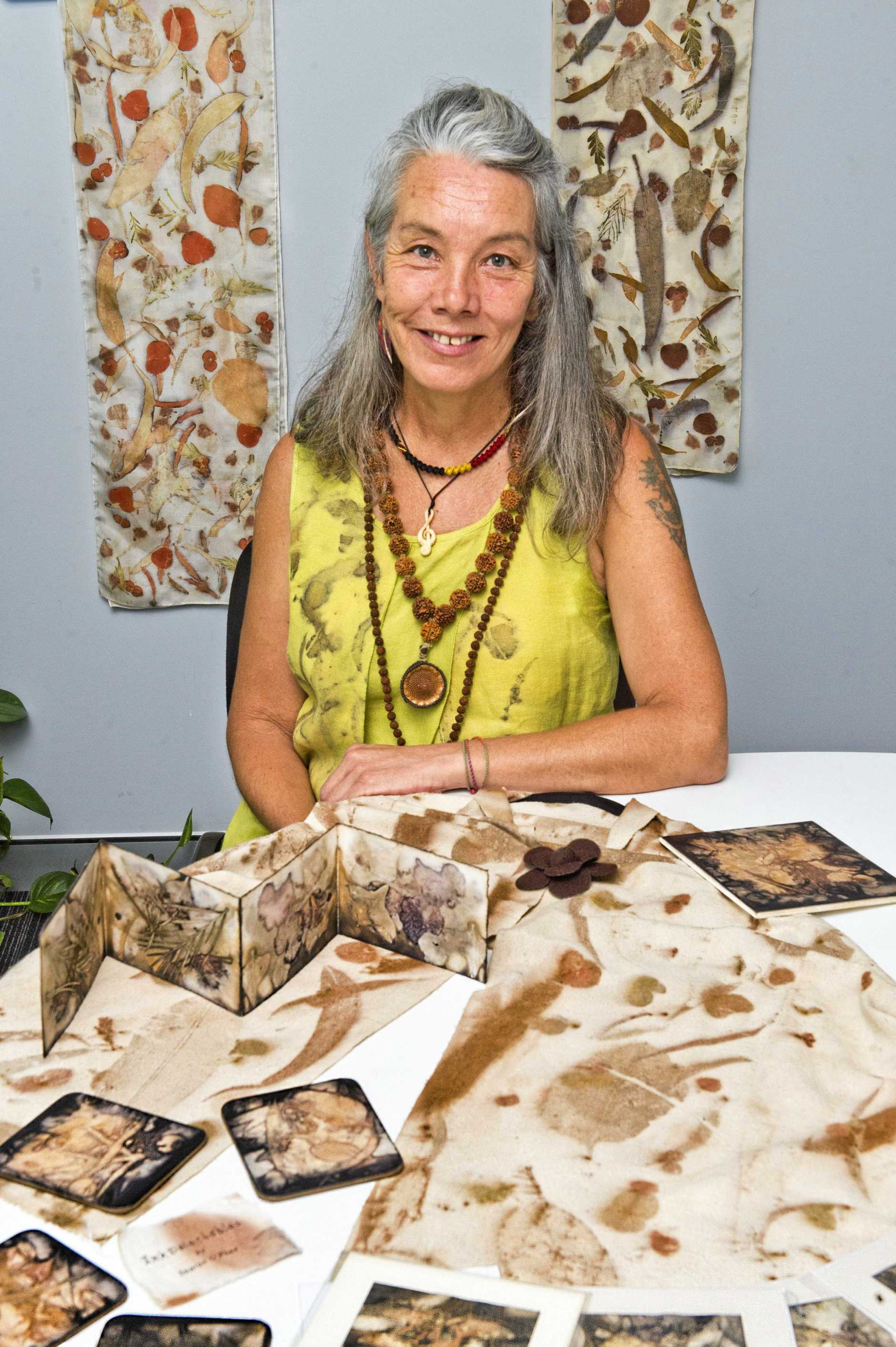 ART BY NATURE: Sharon O'Phee from InkDelectables with some of her natural creations.
