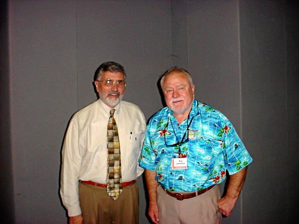 Ray Johnston With Aptllo 17 astronaut Dr Harrison Schmidt