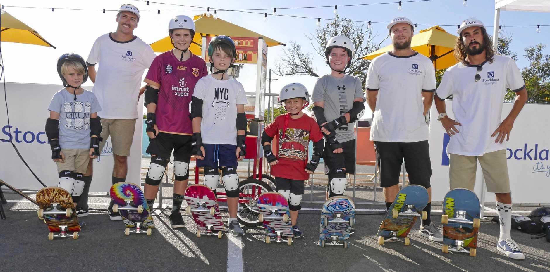 James Darby, 8, Aaron Hall, Ebony Taylor-Faint, 13, Corey Faint, 9, Ethan Darby, 6, Oliver Brown, 8, Felipe Hecher and Vitor Silveira.