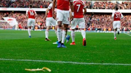 Arsenal's Pierre-Emerick Aubameyang had a banana thrown at him earlier this season