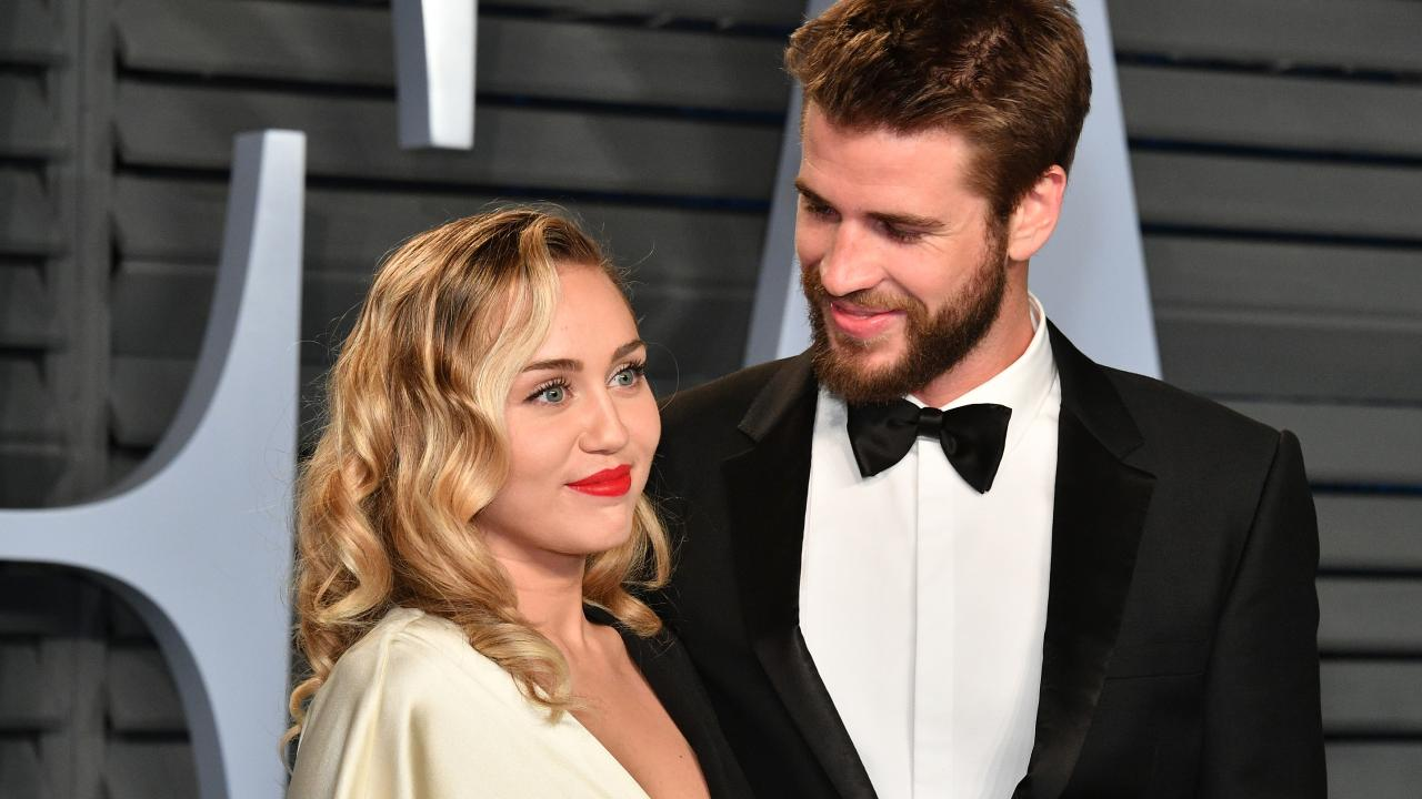 Miley and Liam 4eva. Picture: Getty