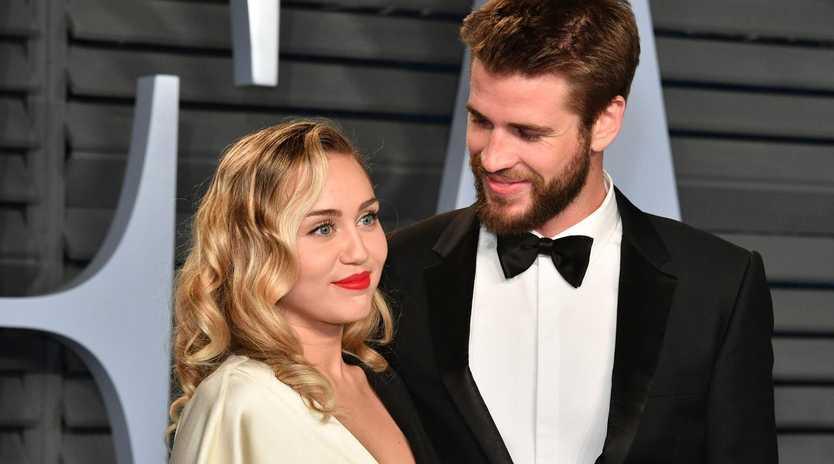Miley and Liam 4eva. Picture: Getty