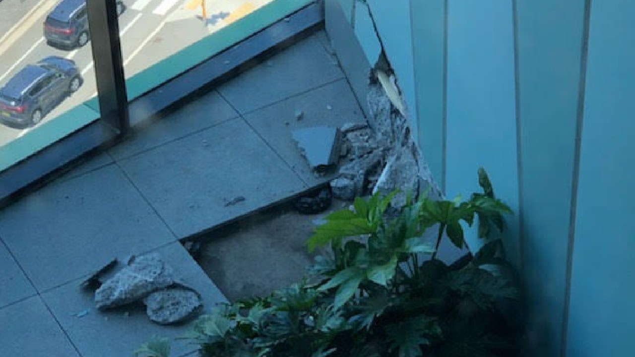 Cracks appeared in concrete at Opal Tower. Picture: Supplied